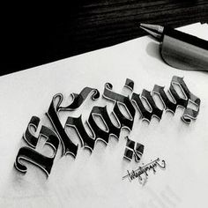 Some Shaded Lettering with Parallelpen&Pencil - Part 1 on Behance - Tolga Girgin