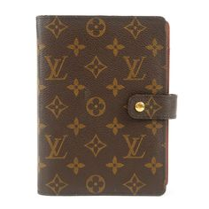 LOUIS VUITTON Monogram Agenda MM Planner Cover R20004 Used F/S