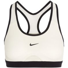 Nike Pro Dri-FIT mesh and stretch-jersey sports bra ($47) ❤ liked on Polyvore featuring activewear, sports bras, white, stretch jersey, racer back sports bra, strappy sports bra, nike sports bra and nike sportswear
