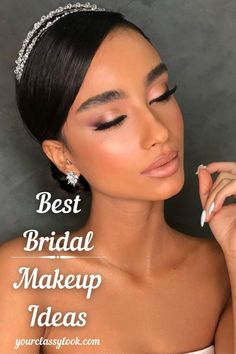 Unsure how you'd like your perfect wedding makeup to look on your big day? From fresh natural looks to glamour, we've rounded up 45 beautiful makeup looks for brides. Wedding makeup ideas, wedding natural look, bridal makeup, wedding ideas, wedding aesthetic, wedding hairstyle, wedding inspiration, wedding makeup for brown eyes, blue eyes, green eyes, hazel eyes, bridal hair, bridal outfits. #wedding #makeup #beauty #bride