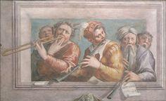 Musicians, about 1545, Giorgio Vasari, Italian, 1511-1574, Fresco, 105.5 x 167 cm