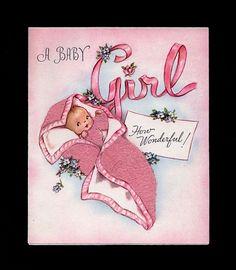 New Baby Girl Greeting Card  (JQ 80)