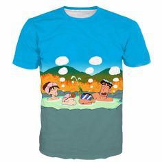 >> Click to Buy << Cute Cartoon t shirts Women Men Summer Casual Tee Shirts 3D Anime T-shirt tees Funny Crayon Shin-chan Family Prints tshirt NJ084 #Affiliate