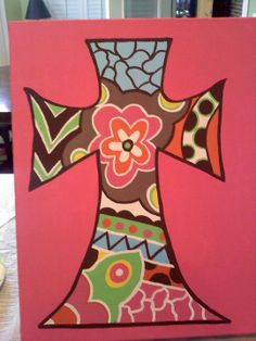 Decorated Cross by AlexandraLeeDesigns on Etsy, $30.00