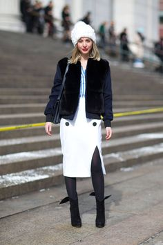 See the newest set of street style snaps. Click for all NYFW street style here!