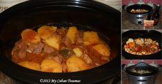 La receta cubana de Carne con Papas  hecha en olla de cocción lenta es la misma que hecha en olla de presión o cazuela regular. La varie...