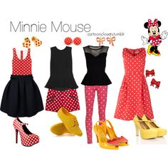 Minnie Mouse, created by bforbel on Polyvore..my outfit for Colton's 2nd bday Mickey Mouse theme !? I think so!