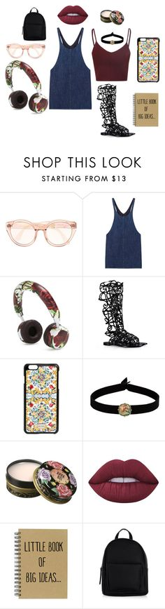 """creative"" by amagitmeliyim on Polyvore featuring moda, MANGO, Dolce&Gabbana, Alberta Ferretti, The Flexx, Anna Sui, Lime Crime, New Look, music ve MyStyle"