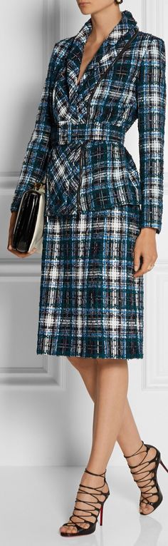 Oscar de la Renta | Tweed Suit. ill take the jacket the skirt and the purse please