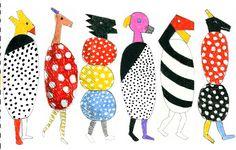 Jun Kaneko - Animals, Working Drawing, 2011 Colored pencil on hand-drawn digital template