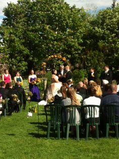 Enriched Events Wedding - Calgary Zoo Outdoor ceremony at the zoo