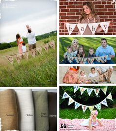 $14.99 Personalized Burlap Banners - Up to 10 Characters! at VeryJane.com
