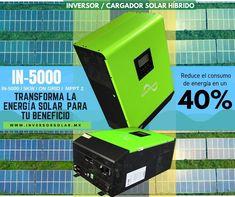 IN-5000, nuestro #inversorsolar #híbrido ONGRID DataShield de 5KW que transforma la energía en #energíasolar #energíarenovable #energíasustentable Electronics, Solar Inverter, Solar Charger, Renewable Energy, Solar Power, Products