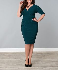 Plus Size Dresses - Victoria Draped Dress - Kiyonna Day Dresses, Plus Size Dresses, Dresses For Sale, Plus Size Outfits, Dress Sale, Plus Size Womens Clothing, Plus Size Fashion, Clothes For Women, Size Clothing