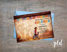 Coco Party Birthday Invitation, Coco Movie Invitation, Coco Party, Day of the Dead Invitation, Day of the Dead, dia de los Muertos, Disney