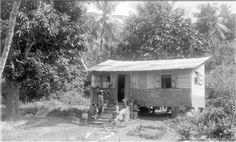 NEGRO PEASANT HUT, TRINIDAD 1899    After emancipation in 1834 thousands of ex-slaves walked off the sugar estates where they had been in bondage and squatted on crown lands, clearing the forest, selling charcoal and growing food crops. Naturally, this raised the ire of planters who were left without labour and the 'evil' of squatting in the Montserrat Hills was described in 1852 as follows: