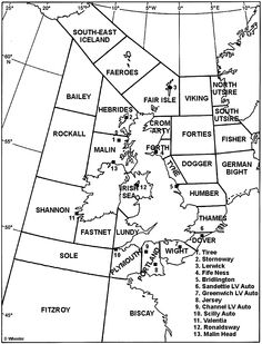 For those of you that listen to the shipping forecast on Radio 4 and wanted to know where all the areas actually are. Map Of Britain, Great Britain, Beautiful Space, Beautiful Pictures, Shipping Forecast, Dover Sole, Boat Stuff, Yacht Boat, He Day