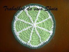 Trabalhos da vovó Sônia: Fruta de crochê - limão