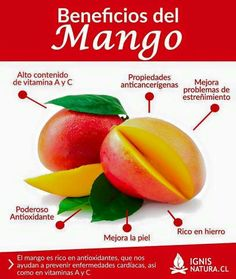 Beneficios del mango. Benefits of the mango.