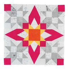 Big Block Quilts, Star Quilt Blocks, Star Quilts, Scrappy Quilts, Quilt Block Patterns, Pattern Blocks, Quilting Projects, Quilting Designs, Quilt Design