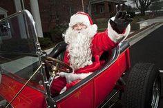 Santa Really Does Drive a T-Bucket Hot Rod Roadster