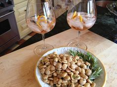 French Lillet Aperitif with Fried Rosemary Almonds is the perfect light starter, and full or aromatic fragrance!