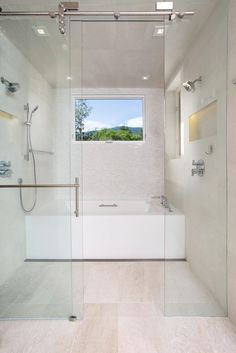 Get tips and ideas for incorporating a no-threshold shower into your bathroom at HGTV.com.