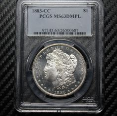 1883 CC Morgan Silver Dollar PCGS MS63 DMPL - DEEP MIRROR PROOFLIKE