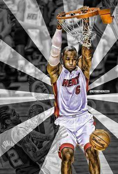 Miami Heat's LeBron James #6