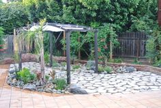 Dog proof backyard in California water-wise-small-backyard-with-flagstone-patio-pergola-and-drought-tolerant-plants-small-california-backyard-with-big-dogs.jpg