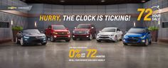 72 Hour Sale at Chevrolet Cadillac of Santa Fe: www.chevroletofsantafe.com
