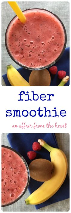 fiber smoothie - Fiber + water = helps with weightloss. Drinking a high fiber smoothie in the morning can keep you sustained through to lunch! We think this one is DELICIOUS! Healthy Smoothies, Healthy Drinks, Smoothie Recipes, Healthy Recipes, Smoothie Cleanse, Cleanse Recipes, Green Smoothies, Detox Drinks, Fiber Diet