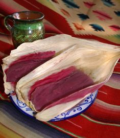 Blackberry Tamales with Philadelphia Cheese (cream cheese)..