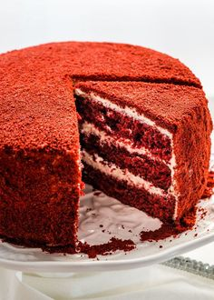 This Red Velour Cake takes your classic popular Red Velvet Cake and brings it to the next level of elegance and deliciousness.