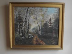 Oil Painting. Unsigned Canadian. Original Frame
