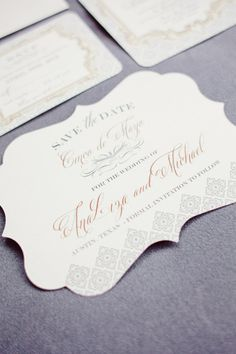 elegant  invitation suite for this Cinco de Mayo affair  Photography by jnicholsphoto.com