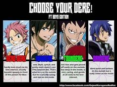 Natsu, Gray, Gajeel, Jellal (for the lady followers)or the guys if they swing that way)