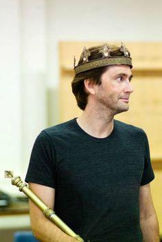 David Tennant in rehearsals for Richard II. Photo Kwame Lestrade