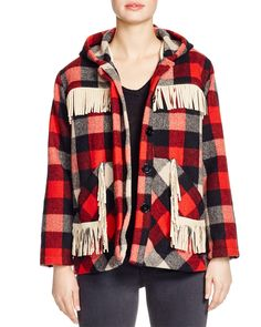 Pepin Buffalo Plaid Coat | Bloomingdale's
