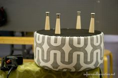 Ottoman Made from an Old Electrical Spool – Infarrantly Creative
