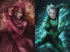 Resultado de imagen para scarlet witch and quicksilver