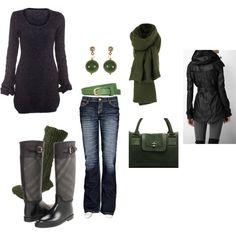 Rain jacket and boots = love it