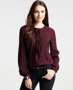 Cascading Strips Long Sleeve Blouse - Lyst