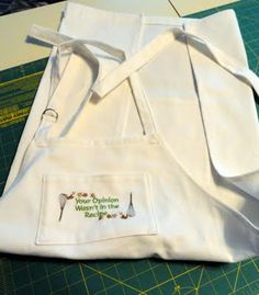 "This is actually a tutorial for making the apron....but I just love the quote, ""Your opinion was not included in the recipe."""