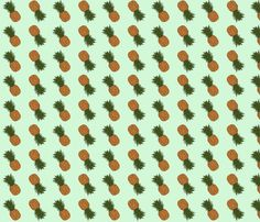 pineapple_allover fabric by beena_singhal on Spoonflower - custom fabric