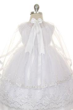 a2f4766dd 13 Best Bautismo images | White dress, Elegant dresses, Little girl ...