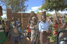 Small part of welcoming committee in Ilambilole, Tanzania.  ©2009 Randy Haglund