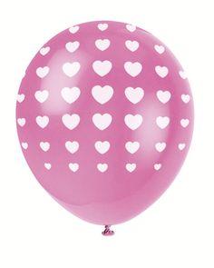 Ballonnen roze met hartjes - Hieppp