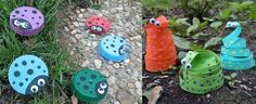 Stylish Kids Garden Decor Kids Playground In The Backyard 20 Ideas For Equipment And Decoration Cute Kids Crafts, Recycled Crafts Kids, Plastic Bottle Caps, Recycle Plastic Bottles, Quick And Easy Crafts, Crafts To Make, Craft Tutorials, Craft Projects, Craft Ideas