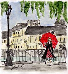 Strolling in Paris.